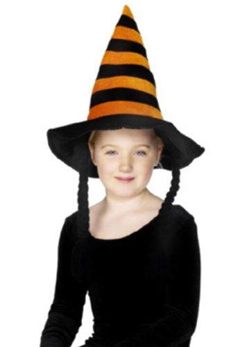 Cappello Strega-Befana Bambina con trecce