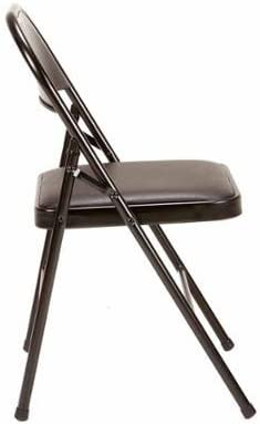 Mainstays Vinyl Chair Daily bargain sale Set Black 4 sold out of