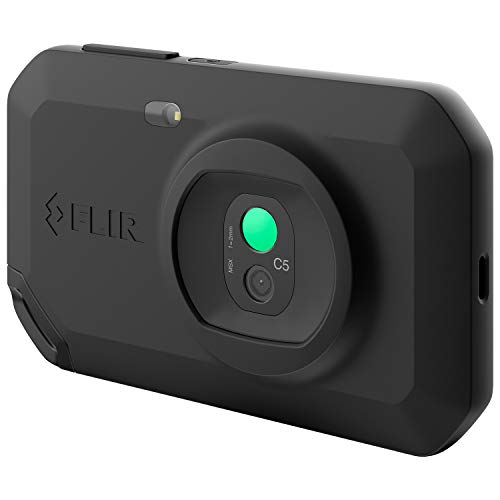 FLIR C5, Profi-Thermokamera, leistungsstark und kompakt mit WLAN, misst Temperaturen bis 400 °C (752°F), 3,5-Zoll-Touchscreen (9 cm), patentierte MSX-Technologie