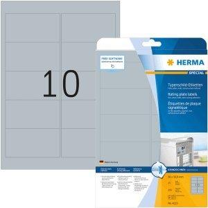 HERMA Etiketten Folie Typenschild Silber 96x50,8mm Special A4 LaserCopy