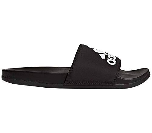 Adidas Adilette Cf+ Logo Scarpe da doccia e da bagno da uomo, Nero , EU 42 - UK 8