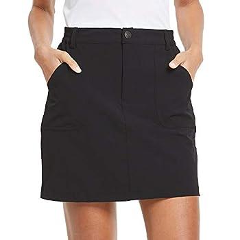 BALEAF Women s Outdoor Skort UPF 50 Active Athletic Skort Casual Skort Skirt with Zip Pockets Hiking Golf Black S