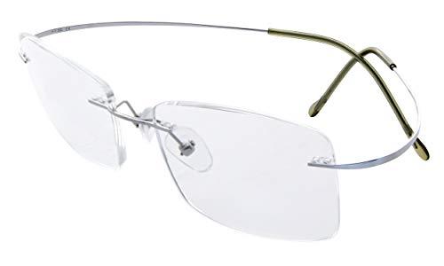 Eyekepper Titan randlose Brillen Herren Silber