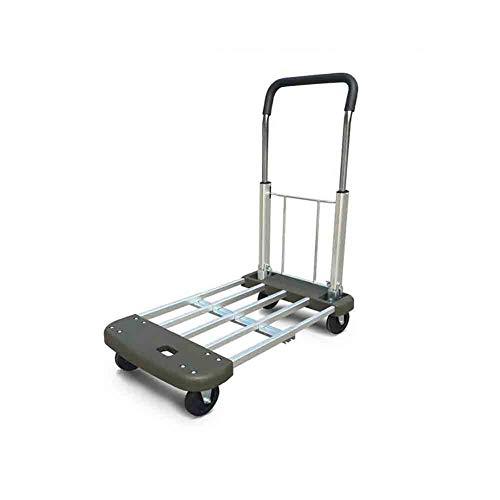 SUNNY Retráctil Aleación De Aluminio Plana, Remolque De Mano Plegable, Portable  Halar Carreta