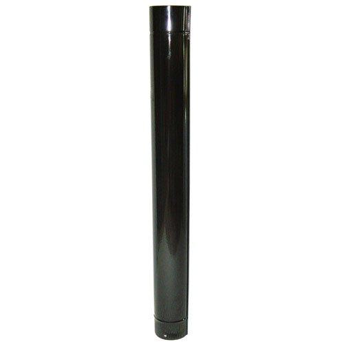 WOLFPACK LINEA PROFESIONAL 22011025 Tubo Estufa Color Negro Vitrificado de 130mm, Multicolor