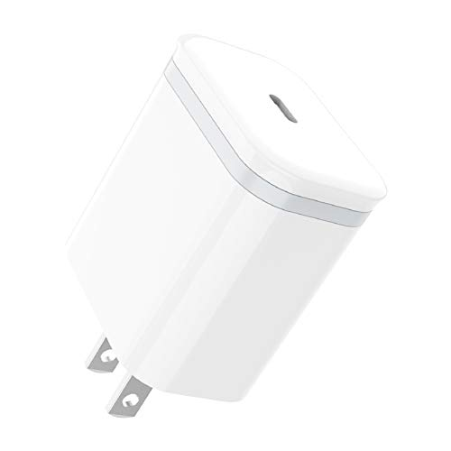USB C Fast Charger, LUOATIP PD 3.0 18W Type C Wall Plug Cube Power Delivery Block Adapter for iPhone 11 Pro Max Xs Max XR X 8 Plus, iPad Pro, AirPods Pro, Google Pixel 3/2/XL, Samsung, LG ThinQ G8 G7