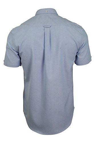 Ben Sherman Mens Oxford Shirt Short Sleeved (Light Blue) L