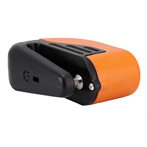 Bloqueo de freno - robo con sistema de alarma para motocicleta scooter bicicleta(orange)