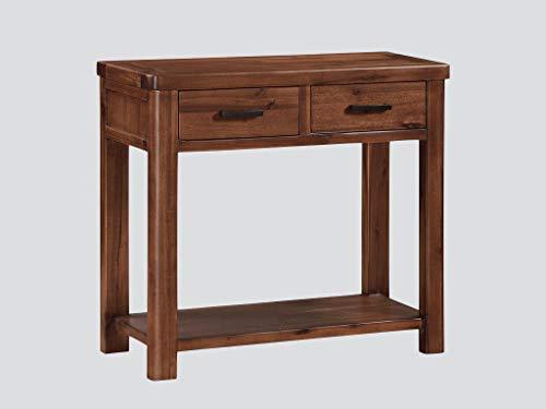 Vella Akazien-Tisch für Flur / Wohnzimmer / Esszimmer / Home Office / Schlafzimmer