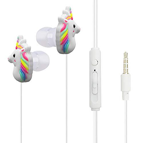 Unicorn In Ear Earphones Children 3.5 mm 3D Cute Cartoon Animal Horse Headphones