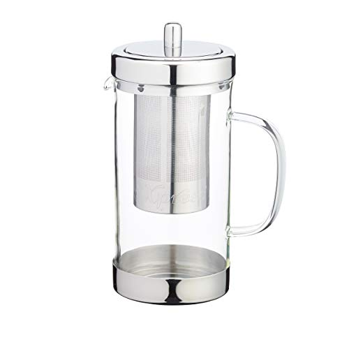 Kitchen Craft Le ' Xpress 1 litro de Acero Inoxidable y Cristal Tetera con infusor