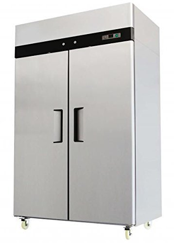 52' Double 2 Door Side By Side Stainless Steel Reach in Commercial Refrigerator, 49 Cubic Feet, for Restaurant