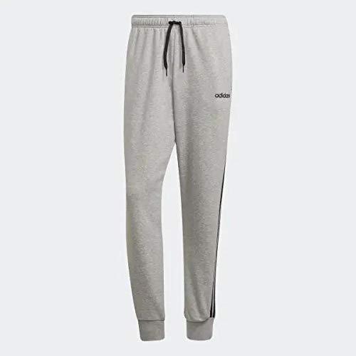 adidas E 3S T PNT FT Pantalones de Deporte, Hombre, Medium Grey Heather/Black/mgh Solid Grey, L