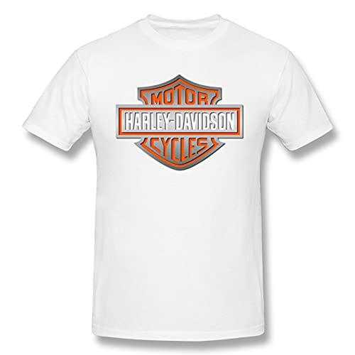 Harley Davidson - Camiseta para hombre, color blanco