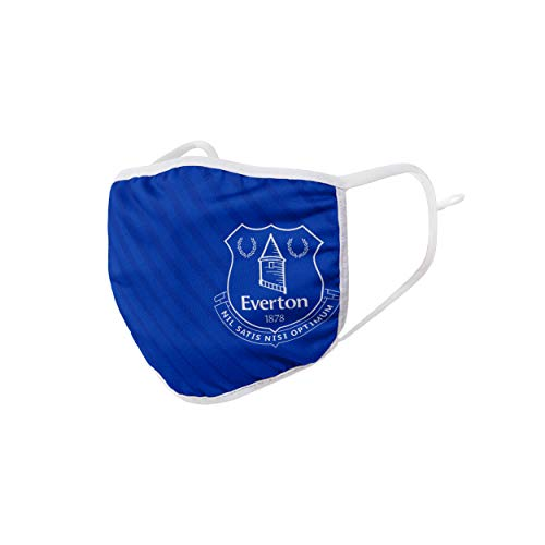 Forever Collectibles UK EVERTON FC ADJUSTABLE 2020-21 HOME KIT FACE COVERINGS WH