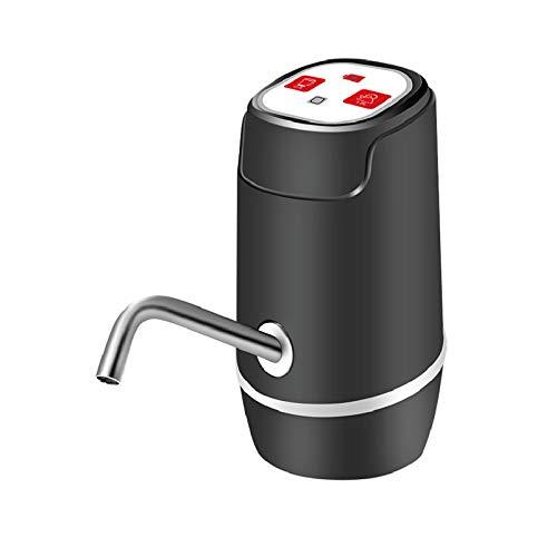 EASYSPEED, DISPENSADOR DE Agua con MEDIDOR, ELECTRICO Y PORTATIL para BOTELLONES DE 5,8,10,12,13 Y 20 litros (Negro con MEDIDOR)