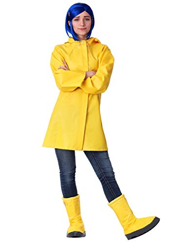 Coraline Costume for Adults Women's Coraline Rain Jacket Outfit X-Large