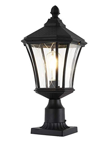 Outdoor Post Light Fixture, 20' Exterior Post Lantern with Pier Mount Base,...