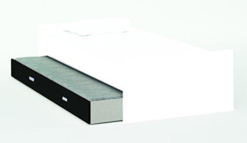 Schrankbett inkl Bettkasten grau / weiß / schwarz B 308 cm Jugendbett Wandbett Schrank Gästebett Jugendzimmer Kinderzimmer Gäste - 4