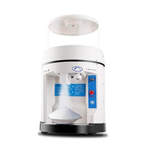 Xinjin Tritaghiaccio elettrico Spessore regolabile Ghiaccio tritato rapido Risparmio energetico Cono di neve per gelato Casa e uso commerciale Tondo, bianco