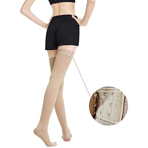 Spataderen Sokken Dij hoge compressiesokken Stretch panty Medische antislip gesp voor mannen en vrouwen Geen siliconen Spierherstel voor vrouwen,L