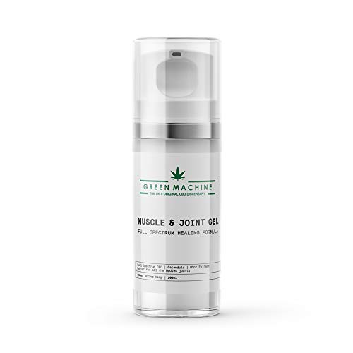 Green Machine Hemp Joint & Muscle Gel, High Strength Hemp Oil Formula Rich in Natural Extracts. Soothe Feet, Knees, Back, Shoulders (100ml)