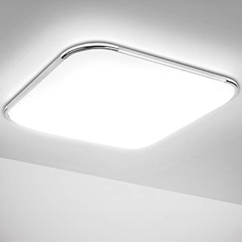 Hengda Led Deckenleuchte Deckenlampe 12W Badezimmer Lampe für Bad, Küche, Schlafzimmer, Wohnzimmer, Flur, Balkon, Kaltweiß IP44 1080LM Badlampe Modern