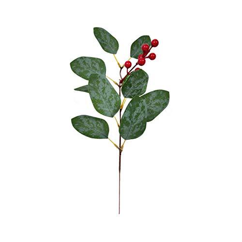 10 piezas de hojas de eucalipto artificial a granel verde cara sintética de eucalipto de plata para florero, arreglos florales, centros de mesa, ramos de boda, día festivo, decoración de verdes