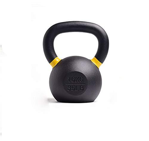 Iboing Kettlebell aus Eisen – Kugelhantel mit bodenschonender Kunststoffummantelung, Bodenschonende Schwunghantel,16kg