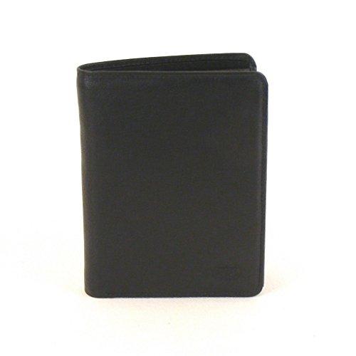 HGL Herren Geldbörse Hochformat Leder schwarz 10194 Kreditkartenfach RV-Fach