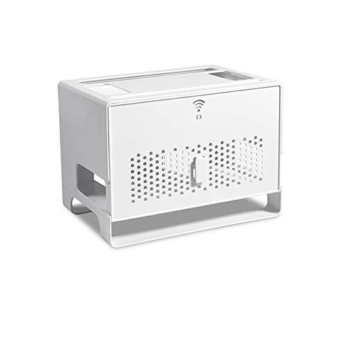 TSHG Multifunctionele WiFi-router opbergdoos, container netsnoer, opslag en afwerkingdoos, USB-hub voor thuiskantoor en entertainment, wit