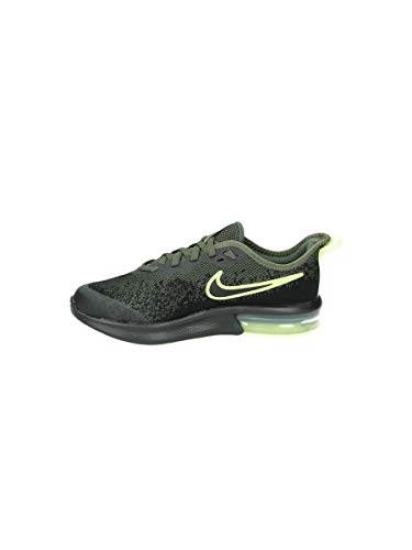 Nike Air Max Sequent 4 Sneaker, Grün (Cargo Khaki/Black-Barely Volt 300), 35.5 EU