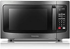 Toshiba ML-EM45PIT(BS) Microwave Oven with Inverter Technology, LCD Display and Smart Sensor, 1.6 Cu.ft, Black Stainless...