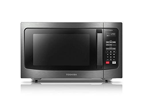 Toshiba ML-EM45PIT(BS) Microwave Oven with Inverter Technology, LCD Display and Smart Sensor, 1.6 Cu.ft, Black Stainless Steel