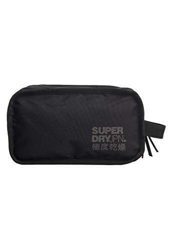 SUPERDRY 2 Zip WASH Bag Black