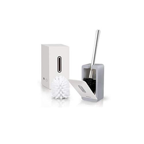 NYKK Escobilla WC Cepillo de Inodoro Creativo montado en la Pared Cepillo de Limpieza for Inodoro for baño con Mango de Acero Inoxidable Escobillas de Baño (Color : Gray)