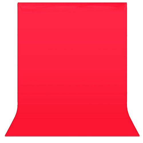 Neewer® 6 x 9 ft / 1,8 x 2,8 M Foto Studio 100% Reiner Musselin klappbare Kulissen Hintergrund Backdrop für Fotografie, Video und Fernsehen (nur Hintergrund)-rot