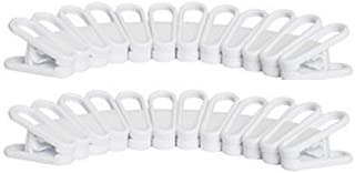 24 Plastic Multi-Purpose Hanger Clips. Add it to Your Hanger to Easily Clip On Clothing. Made in The USA. (24 Hanger Clips)
