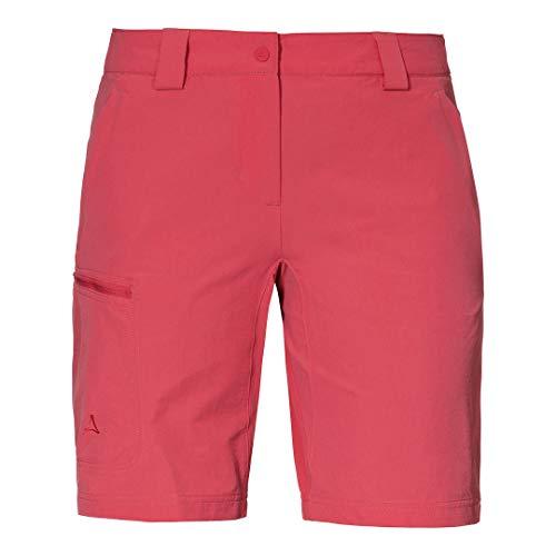 Schöffel Damen Shorts Kailuka L, Bequeme und strapazierfähige Outdoor Hose, Bermuda Shorts mit 4-Wege-Stretch, Wanderhose mit praktischen Zip-Taschen Chrysanthemum 42