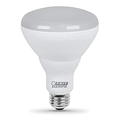 "Feit Electric BR30HO/LEDG2 85W Equivalent 16 Watt Dimmable High 1100 Lumen, Indoor Flood Can BR30 LED Light Bulb, 5""H x 3.75"" D, 2700K Soft White"