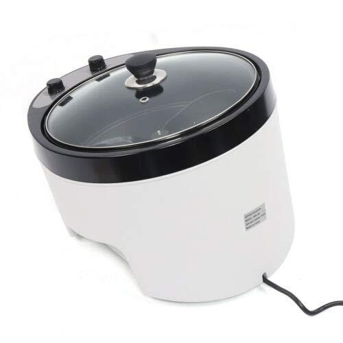 1200W Elektrische Kaffee Röster Maschine, 0-240°C Temperatur einstellbar Kaffeeröster 45° Gleichmäßig Backen