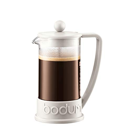 Bodum BRAZIL Kaffeebereiter (French Press System, Permanent Edelstahl-Filter, 0,35 liters) cremefarben