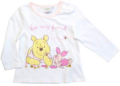 Winnie the Pooh Langarmshirt Rundhalsausschnitt Mädchen (Weiß, 80)