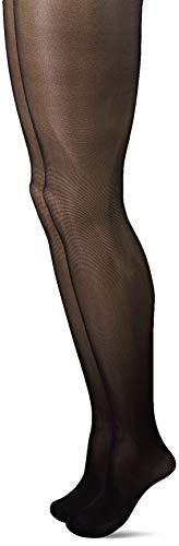 Nur Die Damen 2Er Figura Strumpfhose, 25 DEN, Schwarz (Schwarz 94), Medium (Herstellergröße: 44) Pack