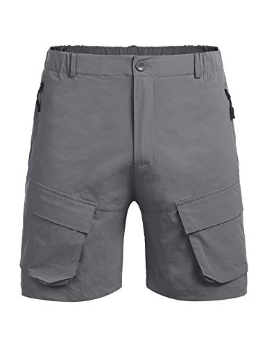 COOFANDY Men's Stretch Cargo Shorts Quick Dry Work Out Shorts for Outdoors Hiking Camping Travel