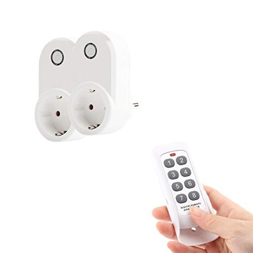 Enchufe inteligente de control remoto inalámbrico, enchufes eléctricos de interruptor de salida inteligente para luces, lámparas, regletas de enchufes, automatización del hogar