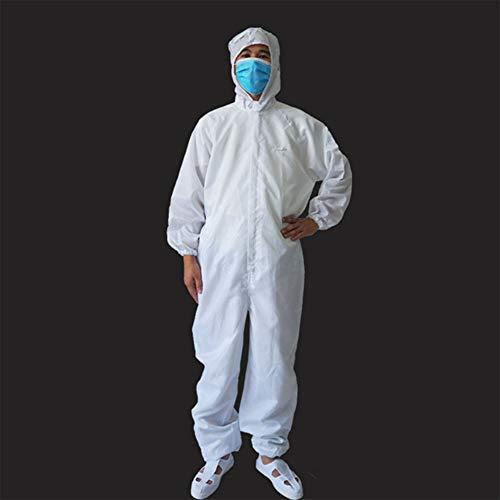 YZZ Stof Schone Beschermende Kleding Jumpsuit Voedsel Shop Hooded Overalls Anti-Statische Stuk Suits, L