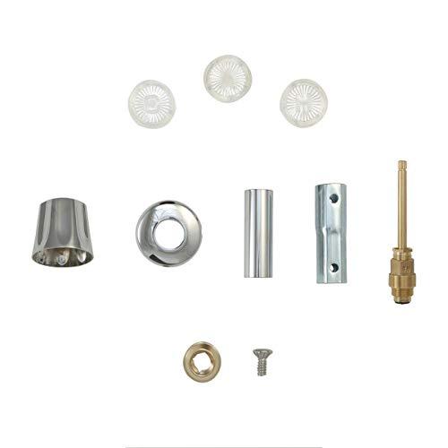 DANCO Bathtub and Shower 3-Handle Remodel/Rebuild Trim Kit for Gerber Faucets | Knob Handle | 11B-1H, 11B-1C, 11B-4D | Chrome (39617) Colorado