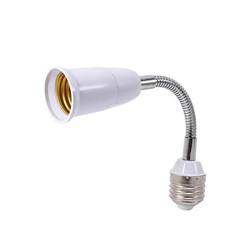 Gfhrisyty Bombilla LED lámpara titular convertidores flexible E27 a E27 20 cm longitud flexible extender zócalo tipo base extensión