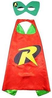 Kids Cape & Mask Boy Girl Party Costume Set - Robin